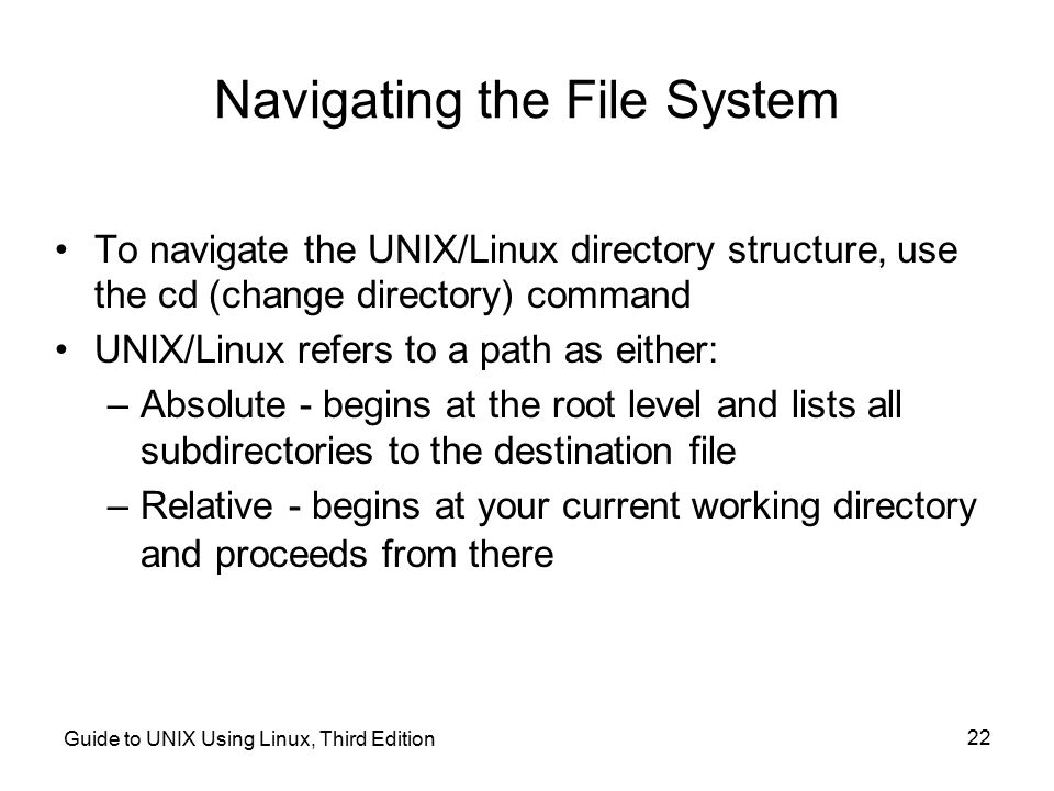 Navigating the File System
