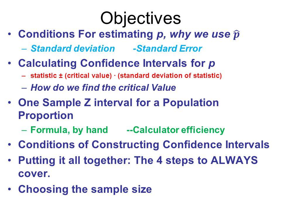 Confidence Intervals: Estimating Population Proportion - ppt