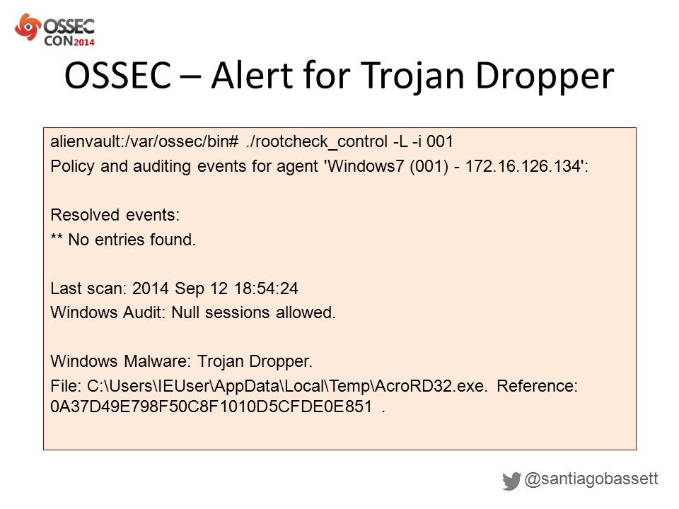 Malware detection with OSSEC - ppt download