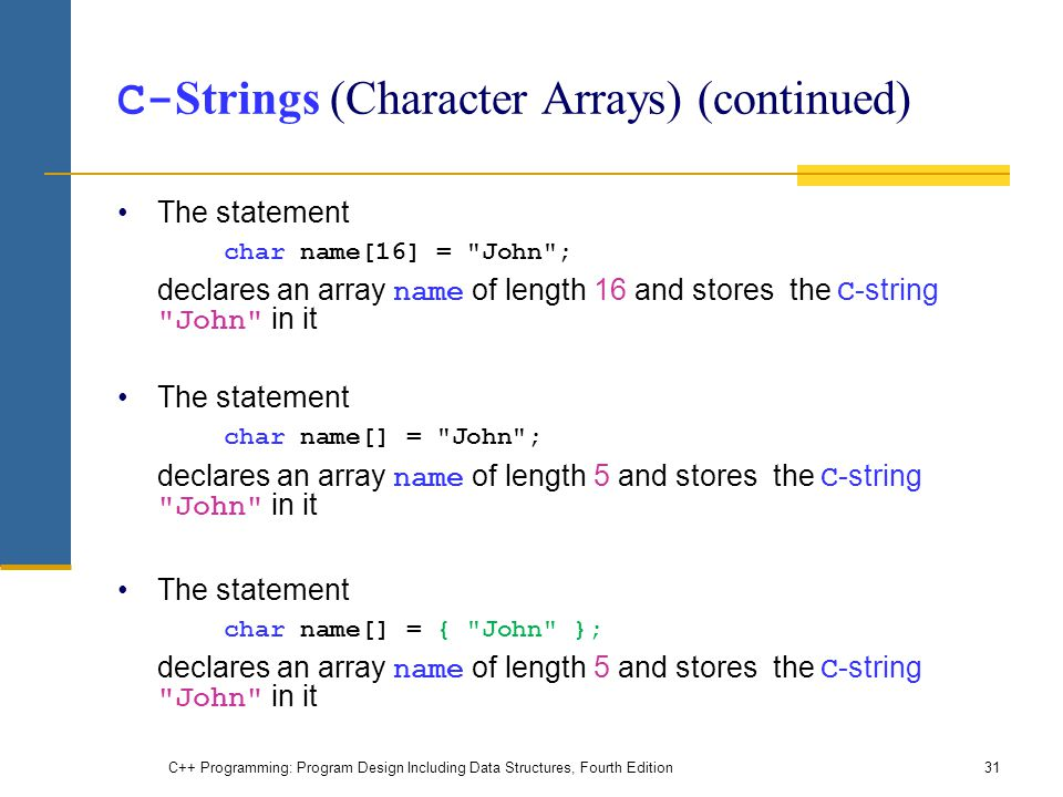 Chapter 9: Arrays and Strings - ppt video online download