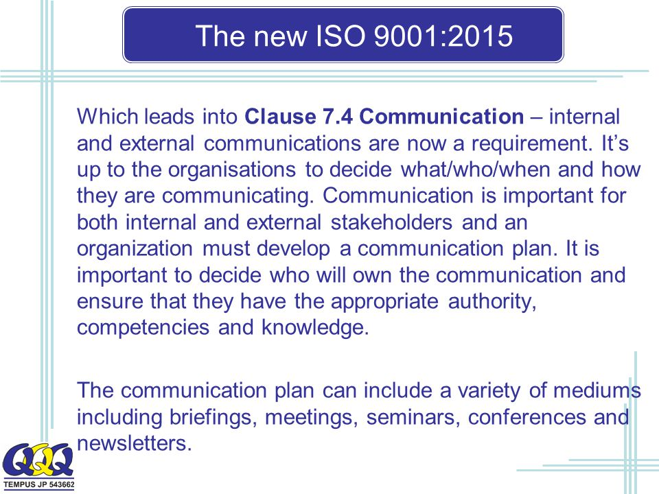 The new ISO 9001:2015