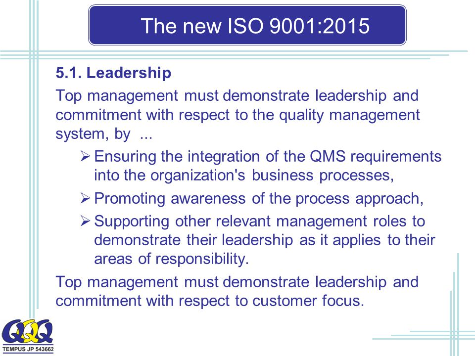 The new ISO 9001: Leadership