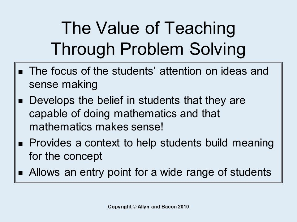 Chapter 3 Teaching Through Problem Solving - ppt download