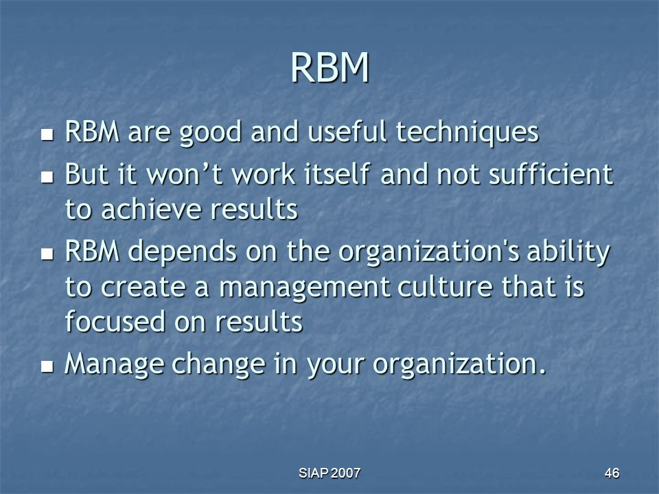 RBM RBM are good and useful techniques
