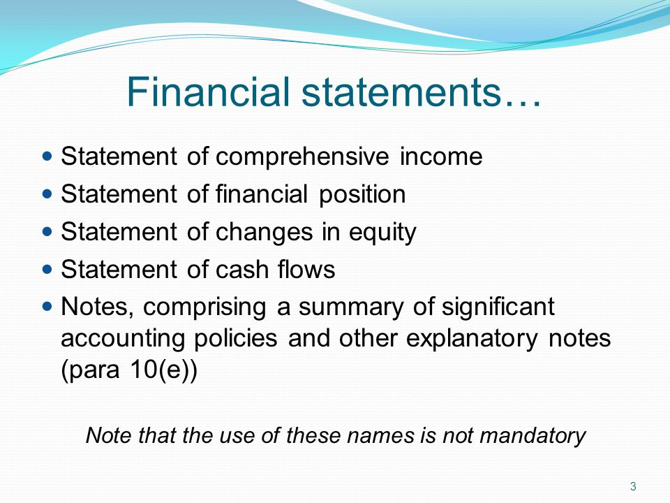 Financial statements…