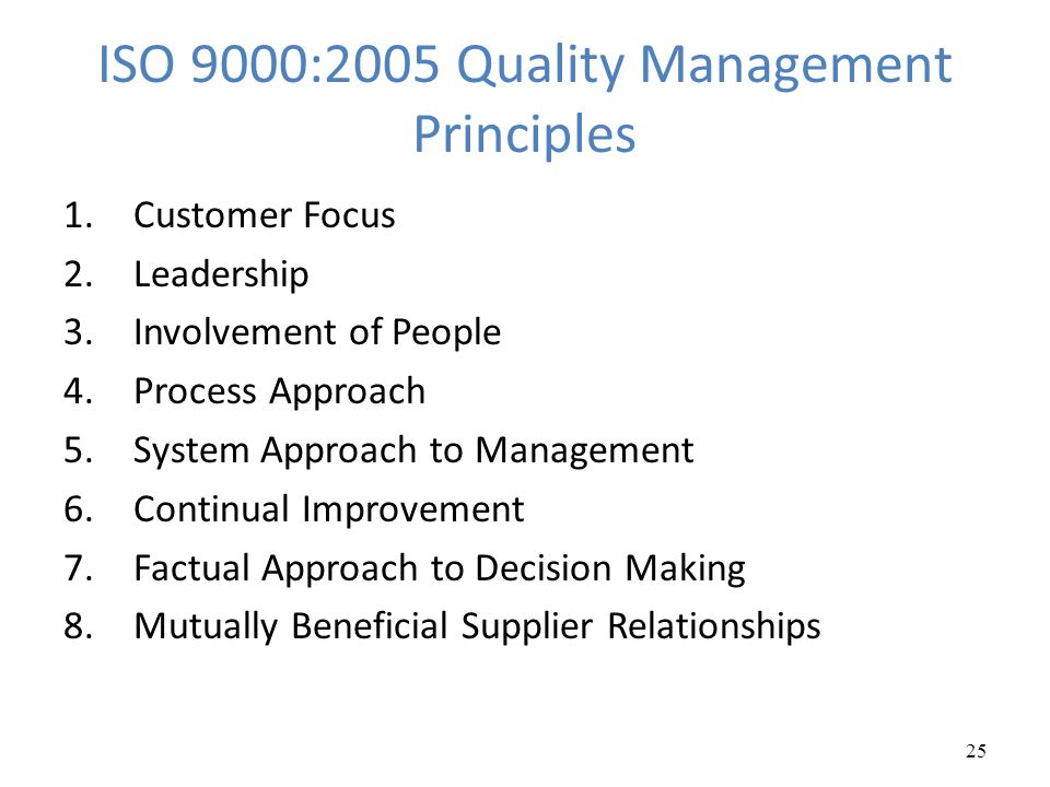 ISO 9000:2005 Quality Management Principles