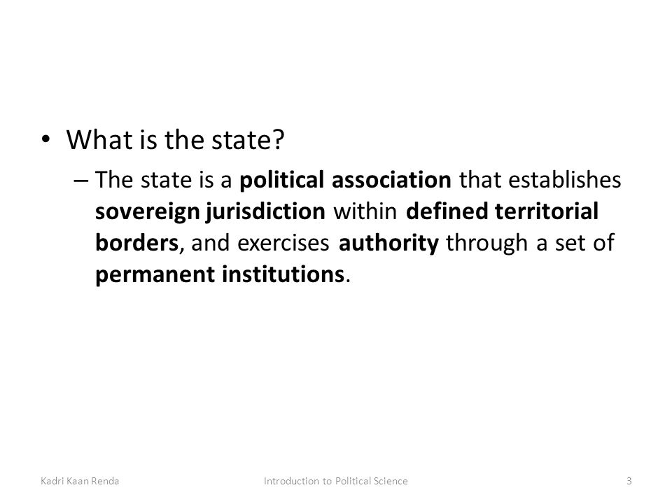 state political science definition