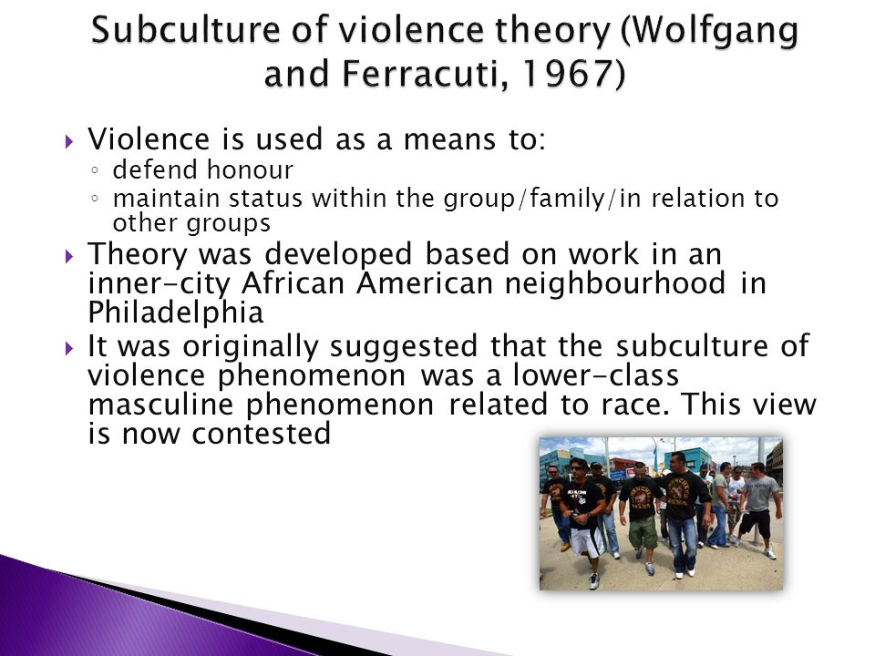 the subculture of violence