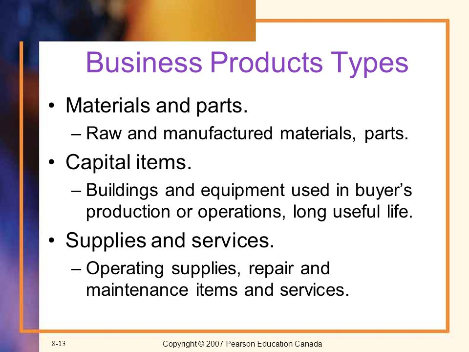 Business Products Types
