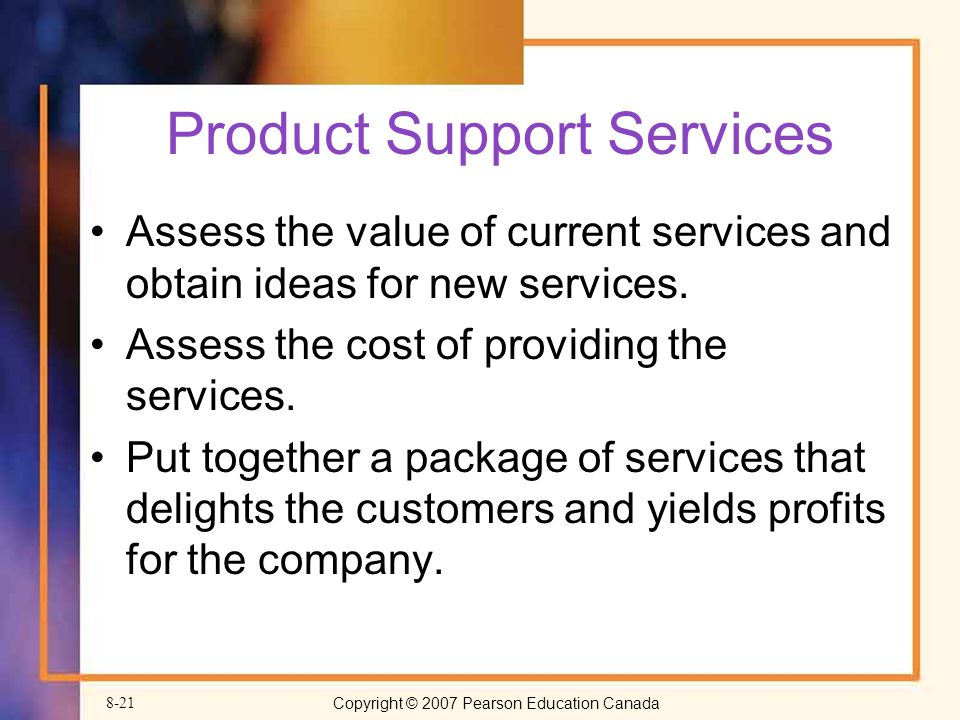 Product Support Services