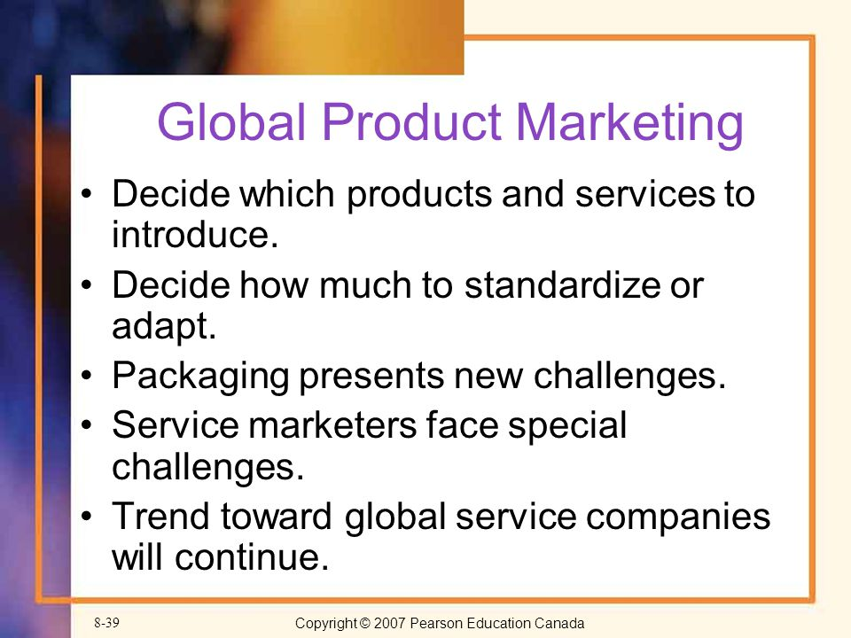 Global Product Marketing