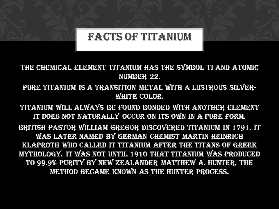 Titanium Ppt Download