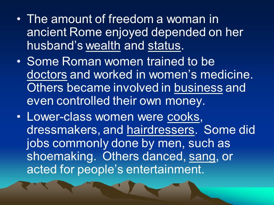 status of women in rome