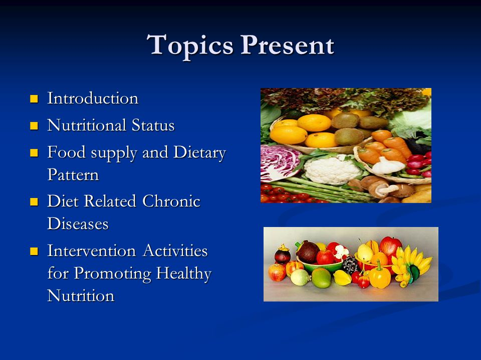Food and Nutrition Situation in Malaysia - ppt video online download