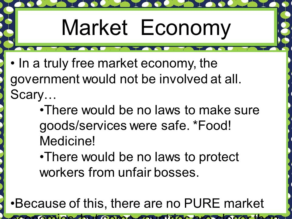 examples of free market economy countries