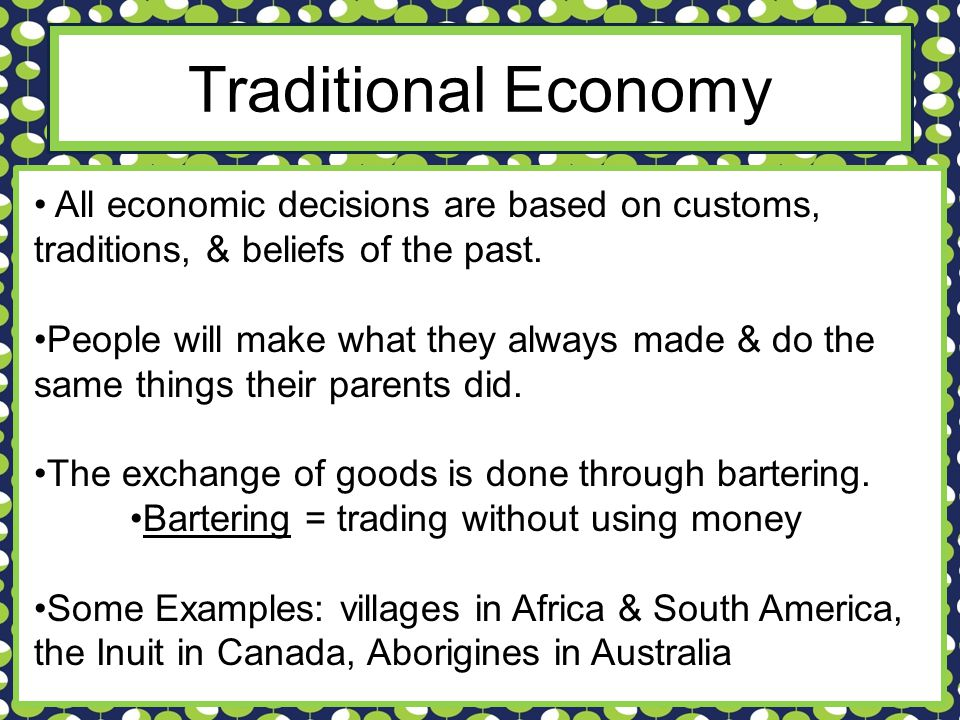 Traditional Economy Examples Choice Image Example Cover Letter For