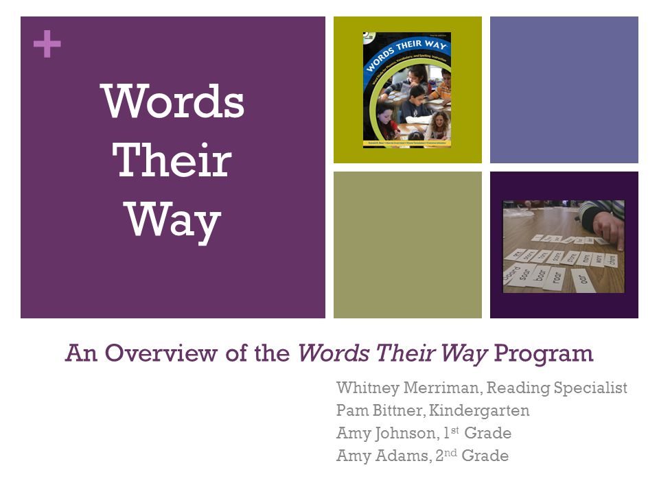 An Overview Of The Words Their Way Program Ppt Download