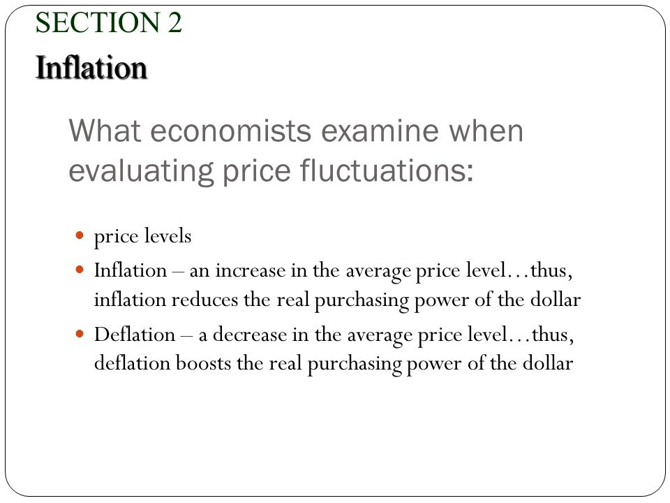 What economists examine when evaluating price fluctuations: