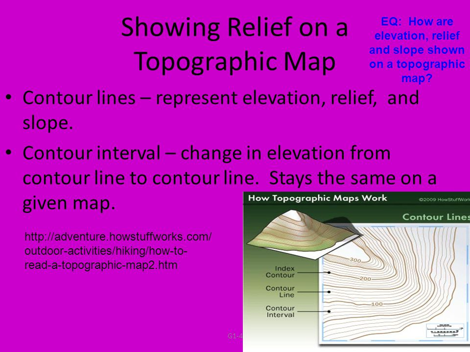 Eq How Are Elevation Relief And Slope Shown On A Topographic Map