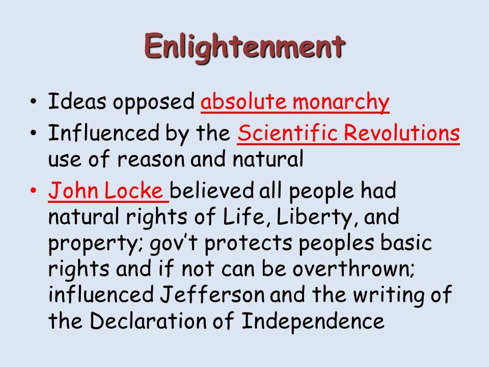 enlightenment impact on american revolution