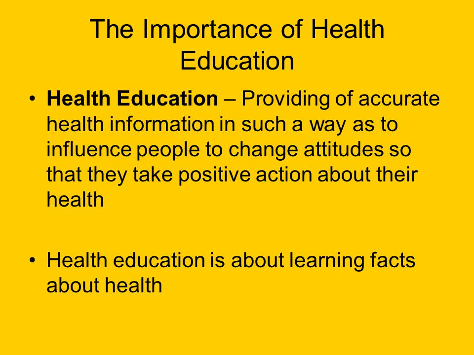 The Importance of Health Education