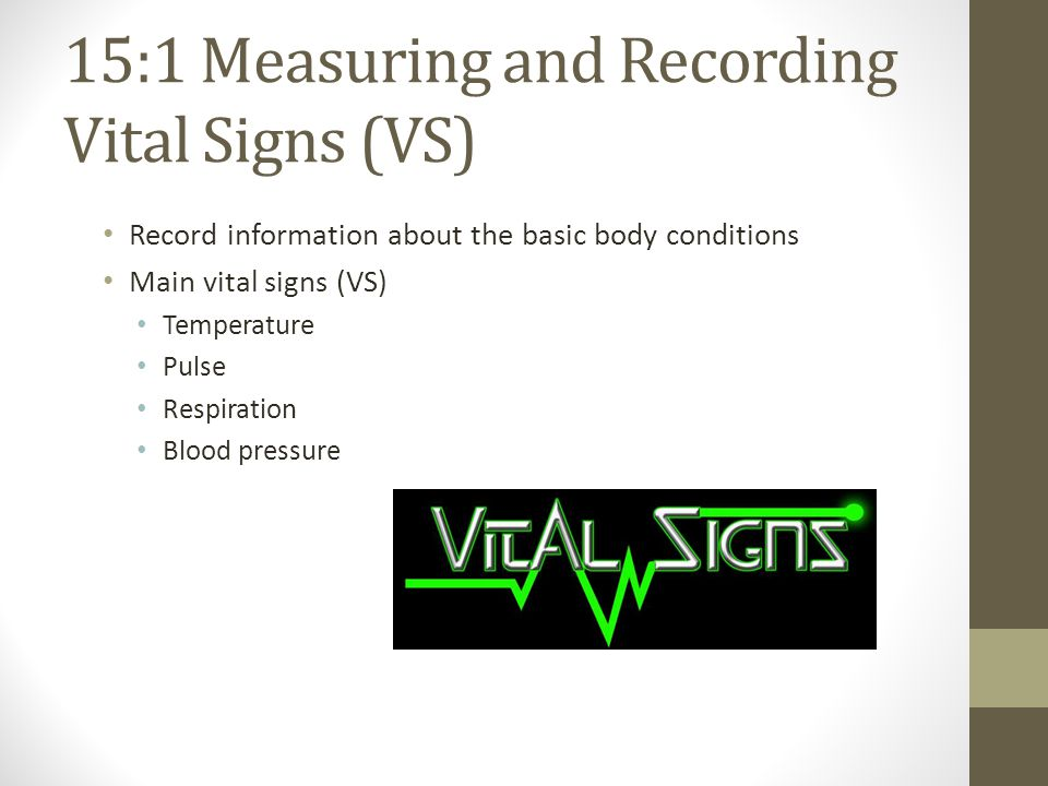 Chapter 15 Vital Signs Ppt Video Online Download