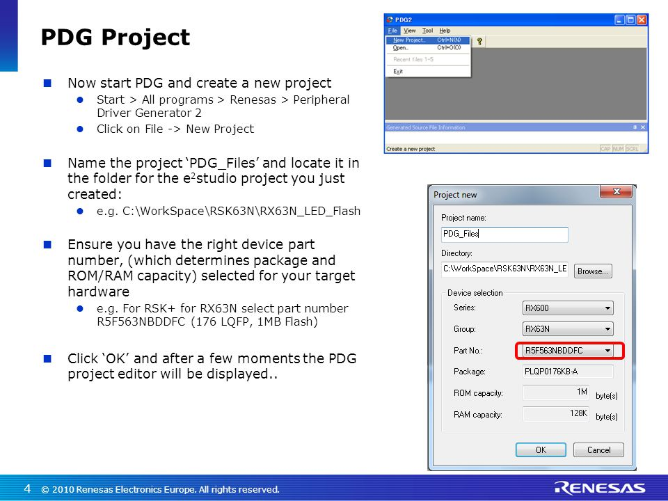 Using PDG with e2studio: Example - ppt download