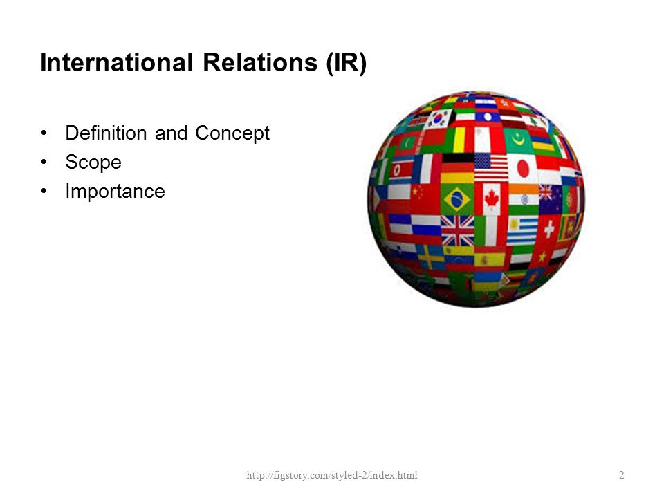 definition and scope of international relations pdf