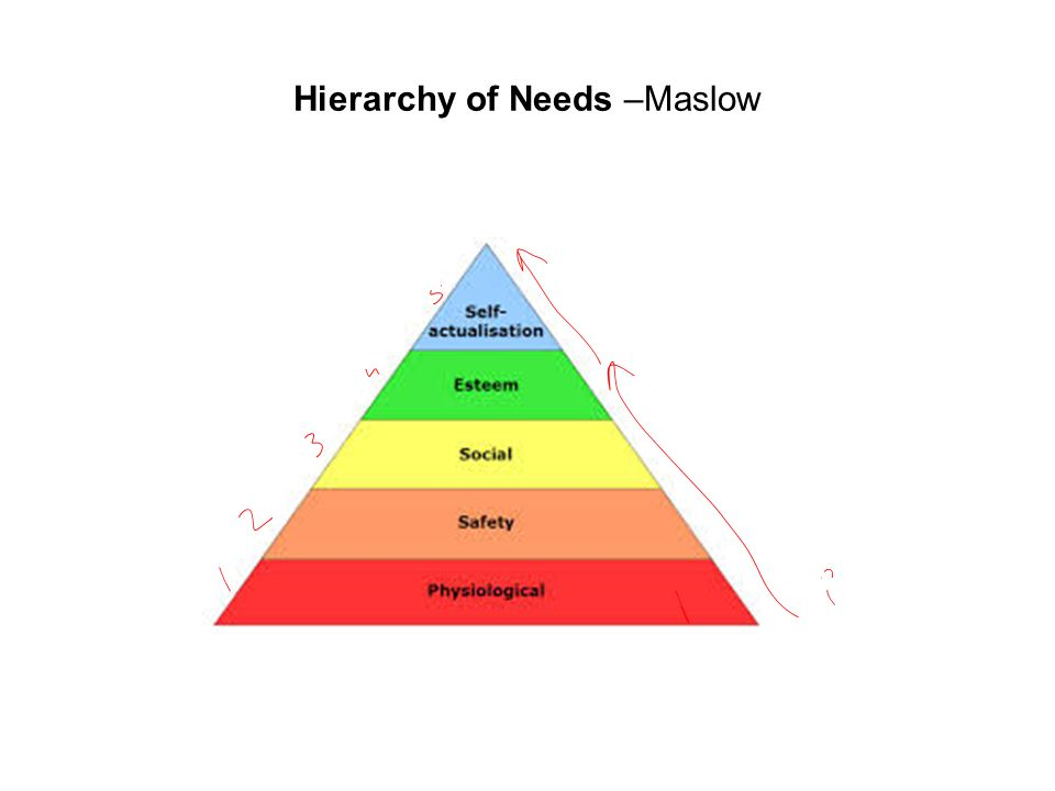 Hierarchy of Needs –Maslow