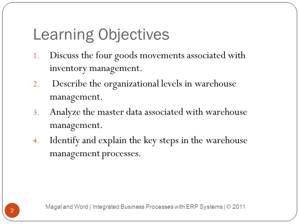 inventory and warehouse management pdf