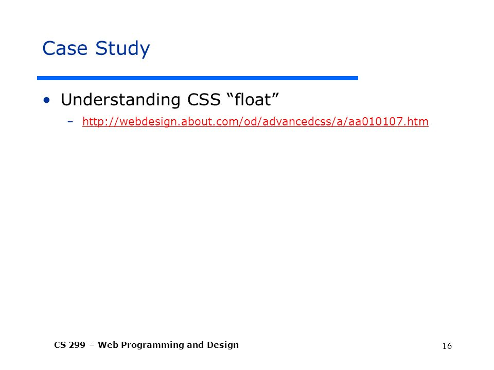 Case Study Understanding CSS float
