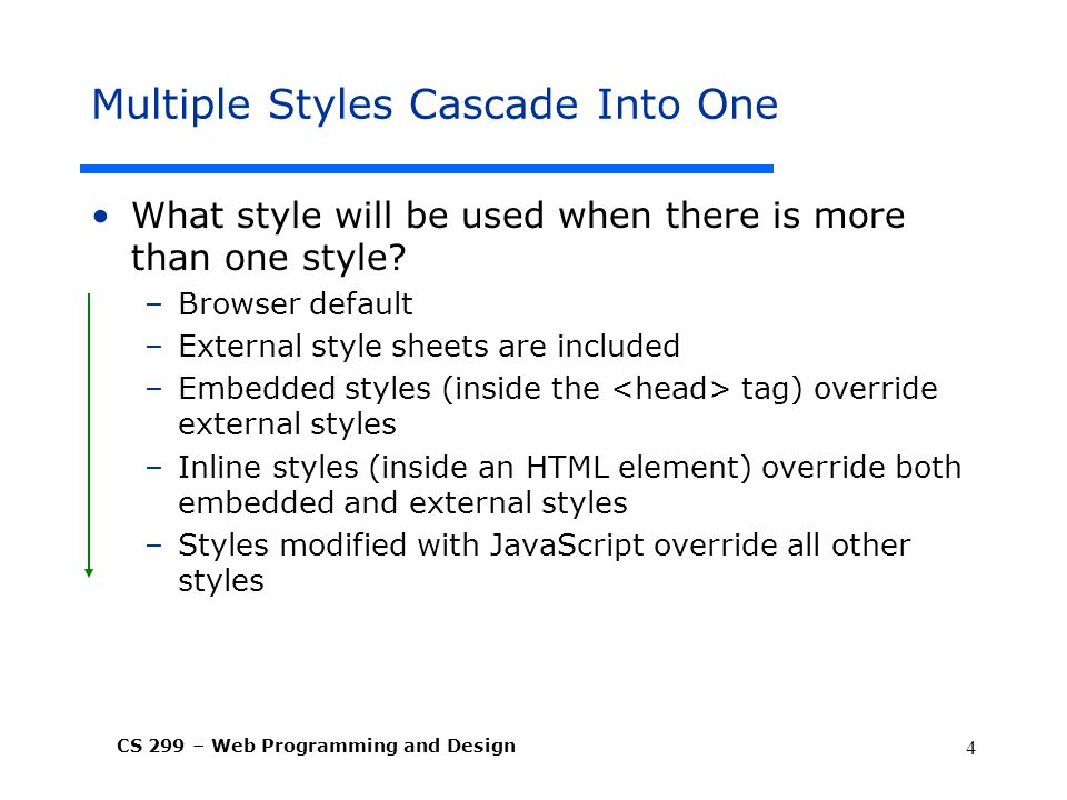 Multiple Styles Cascade Into One