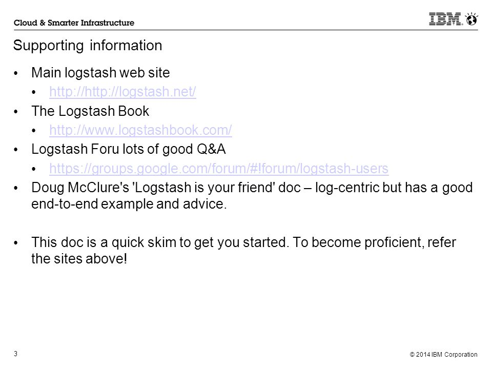 Using Logstash for PI Robert Mckeown Dec 12, ppt video