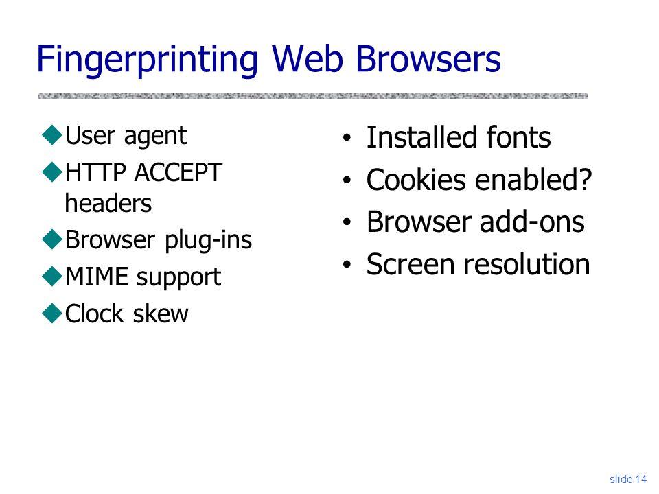 Web Tracking and Fingerprinting - ppt video online download