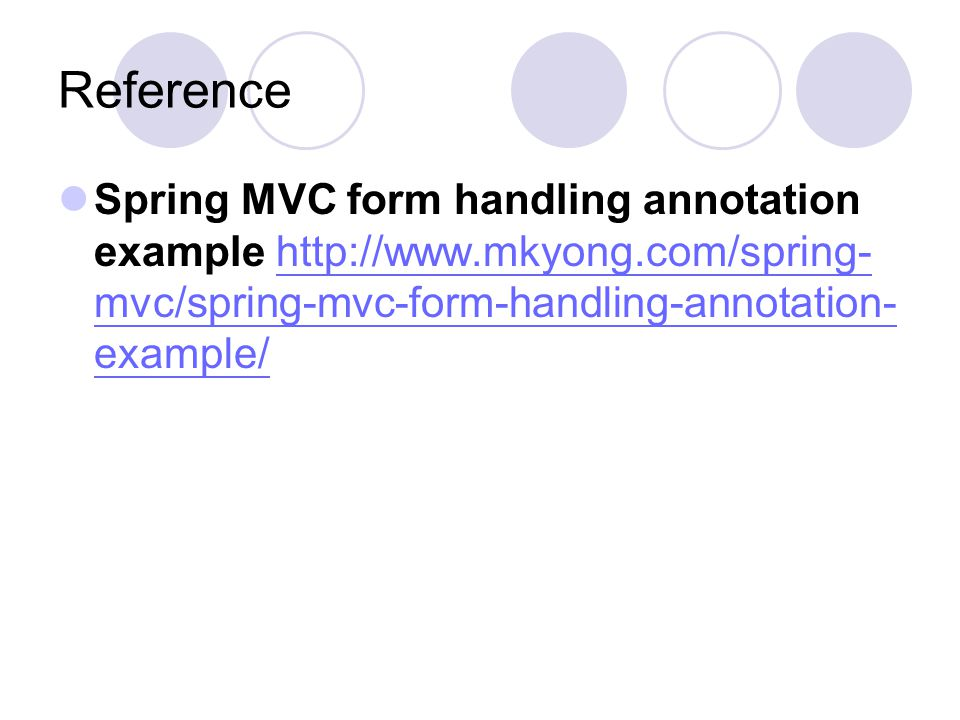 Spring MVC form handling annotation example - ppt video