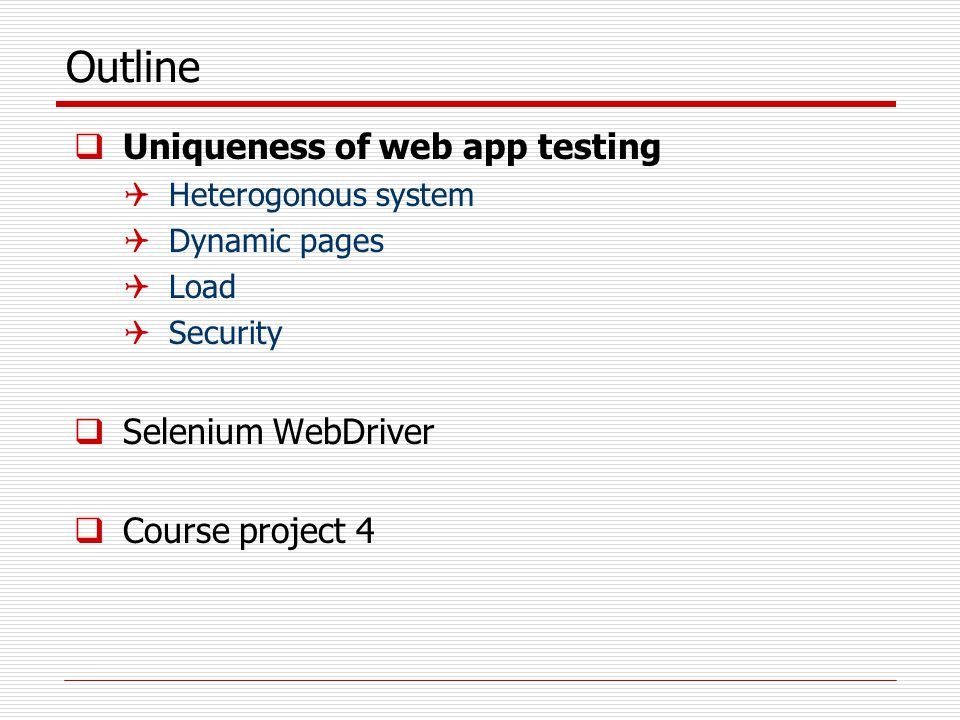Test Web applications using Selenium - ppt video online download