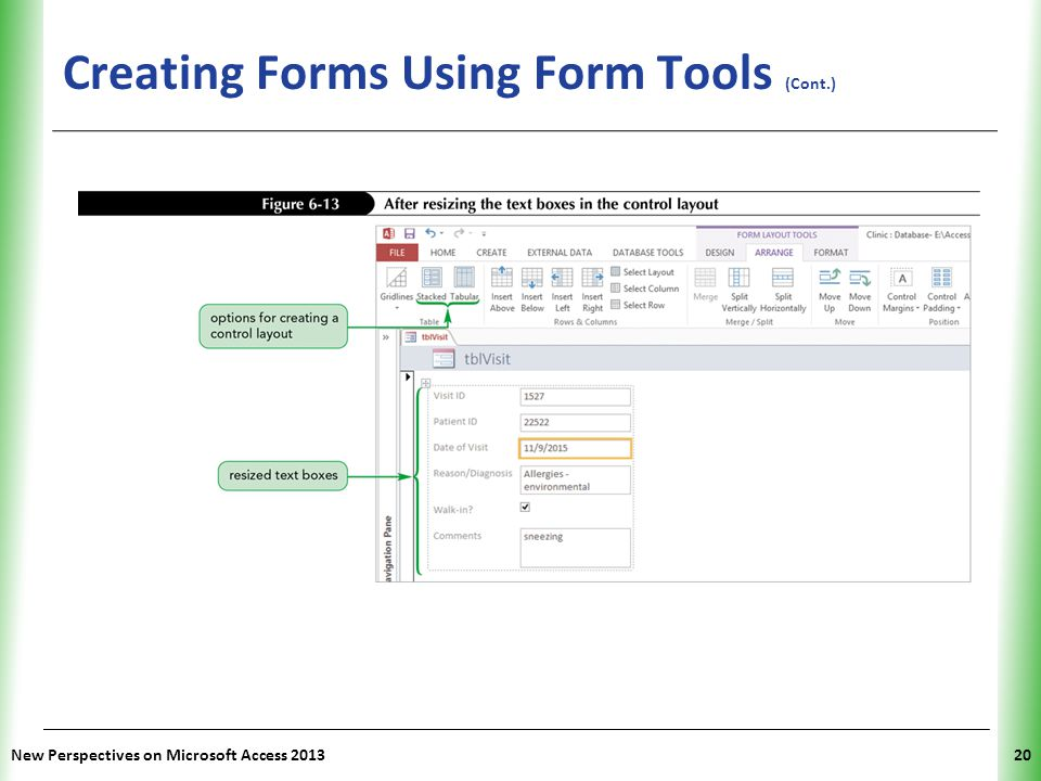 Tutorial 6 Using Form Tools and Creating Custom Forms - ppt