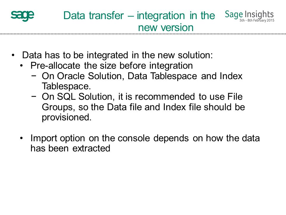 How to upgrade customers to Sage ERP X3 Version 7 - ppt