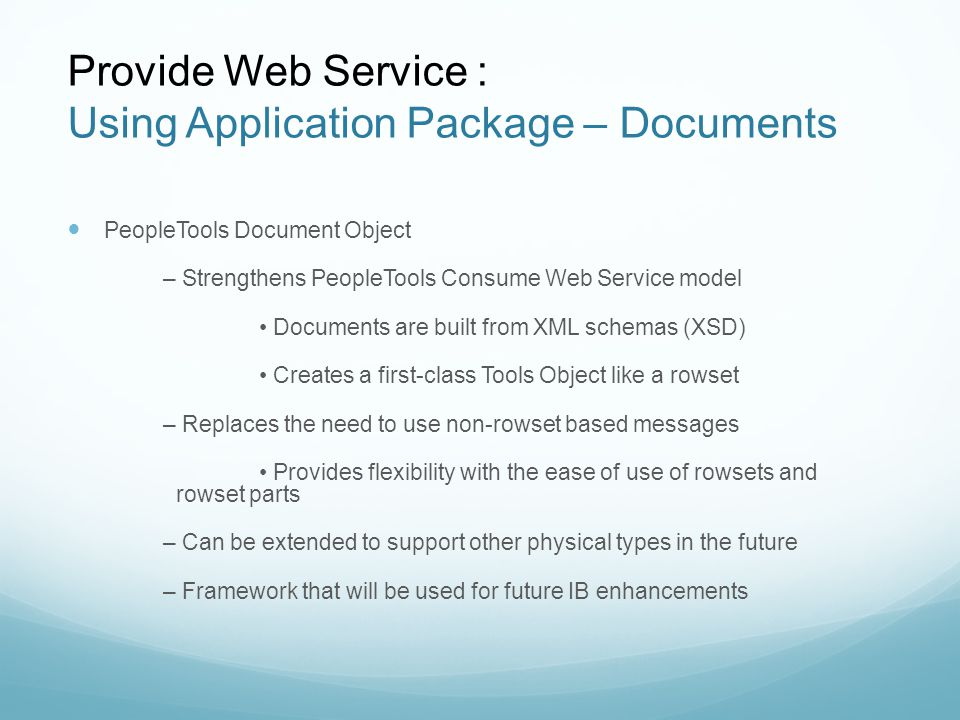 Peoplesoft: Building and Consuming Web Services - ppt video