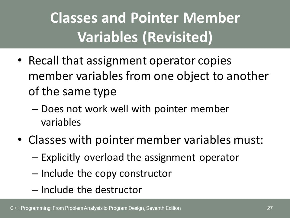 Classes and Pointer Member Variables (Revisited)