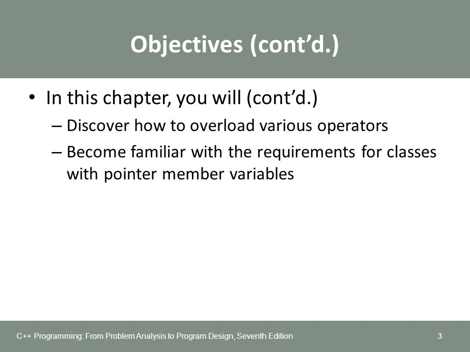 Objectives (cont'd.) In this chapter, you will (cont'd.)