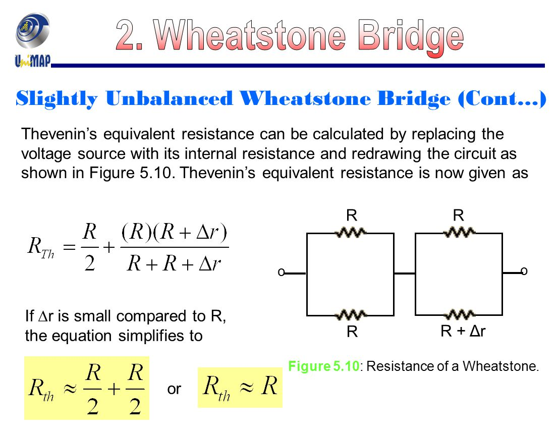 Figure 5.10: Resistance of a Wheatstone.