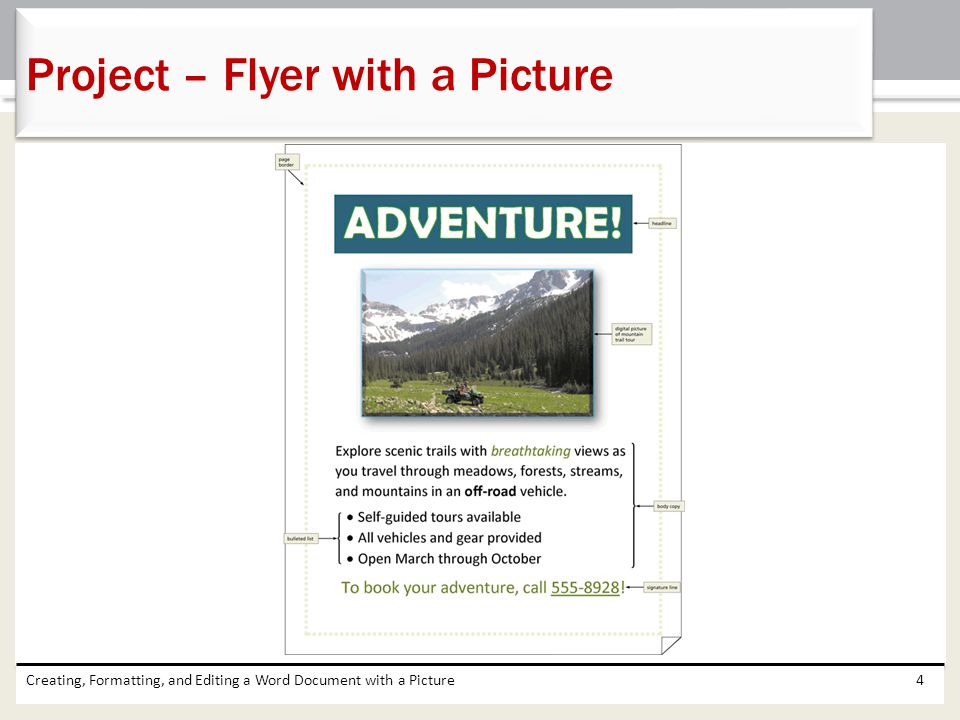 Project – Flyer with a Picture