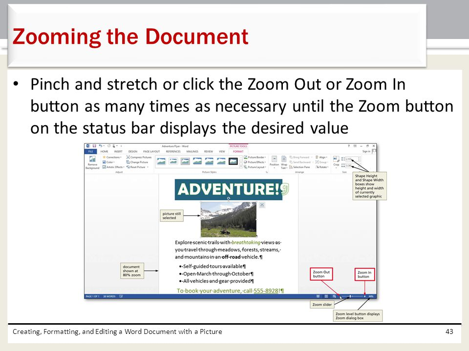 Zooming the Document