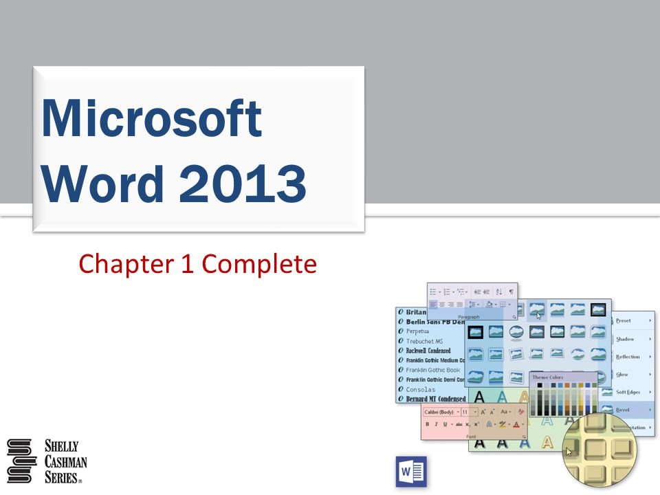 Microsoft Word 2013 Chapter 1 Complete