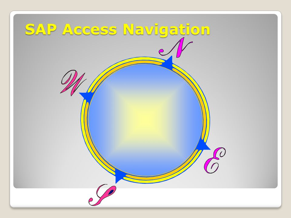 SAP Access Navigation