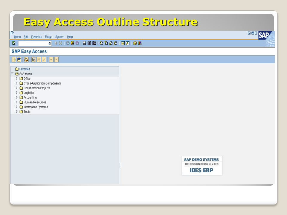 Easy Access Outline Structure