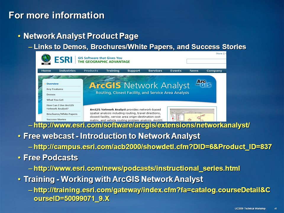 ArcGIS Extensions: Network Analyst - Data Preparation - ppt video