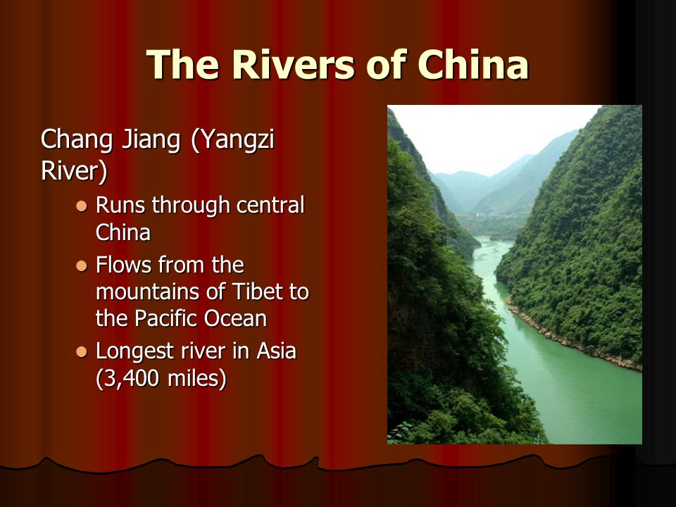 The Rivers of China Chang Jiang (Yangzi River)