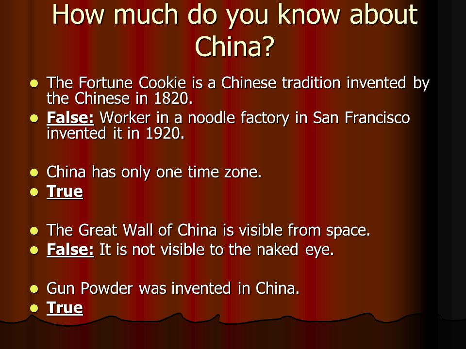 How much do you know about China